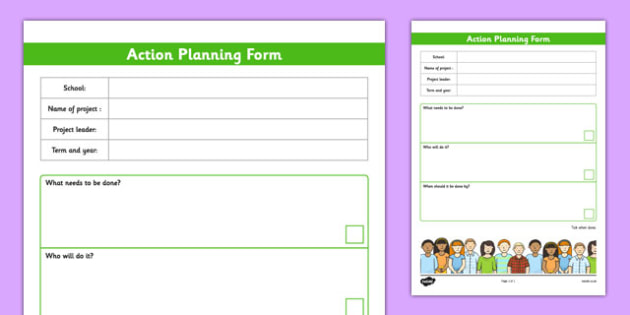 School Council Project Action Plan Template  School Council
