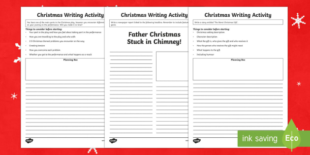 Christmas Writing Activity Pack - Christmas, Nativity, Jesus, xmas, Xmas, Father Christmas, Santa, writing tasks, newspaper report, st