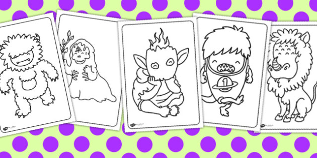Monster Colouring Sheets - colouring sheets, monster, colour