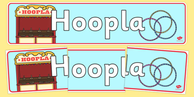 The Hoopla Role Play Display Banner- hoopla, role play, role play banner, display banner, banner for display, hoopla display, hoopla role play