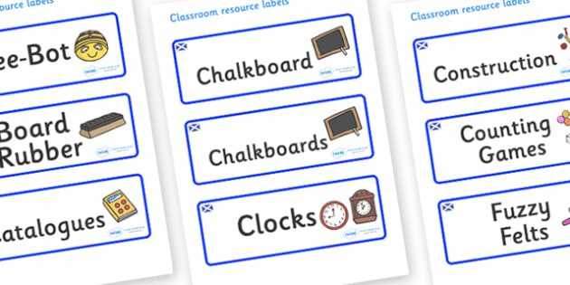 Scotland Themed Editable Additional Classroom Resource Labels - Themed Label template, Resource Label, Name Labels, Editable Labels, Drawer Labels, KS1 Labels, Foundation Labels, Foundation Stage Labels, Teaching Labels, Resource Labels, Tray Labels,