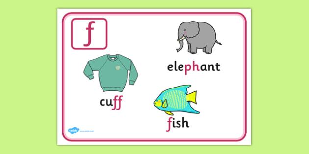 Alternative Spellings for f Display Poster - alternative spellings for f, display poster, f display poster, alternative spelling for f poster