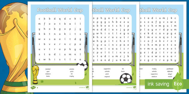 photograph regarding Sports Word Search Printable called Soccer Entire world Cup Wordsearch Differentiated - soccer, sporting activities