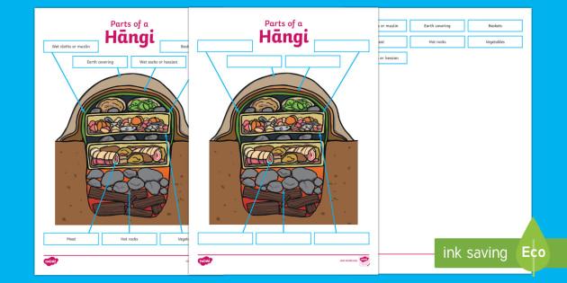 Hangi Labelling Activity Sheet - Maori Culture and Traditions, hangi, worksheet,