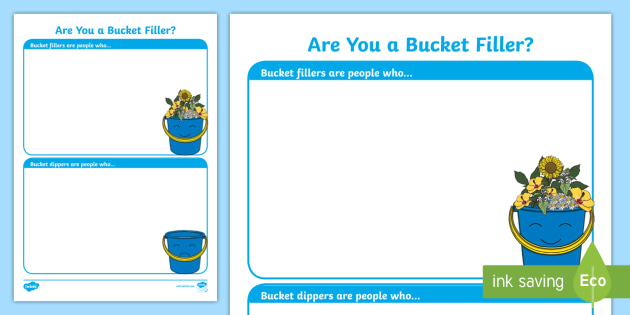 Bucket Filler Coloring Page Bucket Coloring Page I Am A Bucket ...