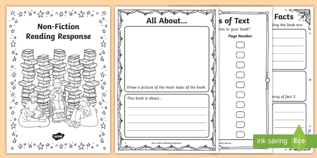F-2 Non-Fiction Reading Response Activity Booklet