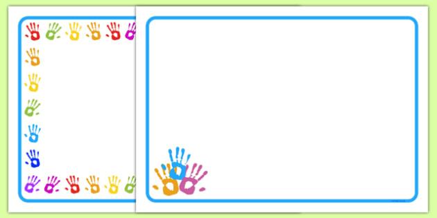 Handprint Place Mats - handprint, place mats, mat, tidy, clean