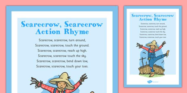 Scarecrow, Scarecrow Rhyme - autumn, rhyme, music, eyfs, early years, scarecrow, halloween
