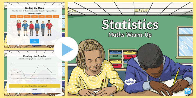 year 6 statistics maths warmup powerpoint ks2 maths warm up