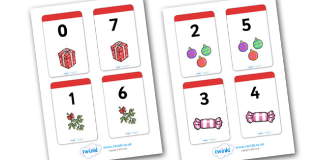 Christmas Themed Number Bonds to 7 Matching Cards - christmas
