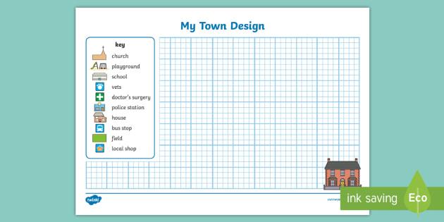 Design A Town Worksheet Activity Sheet Design A Town