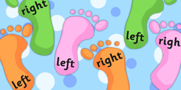 Right And Left Footprint Cut Outs - Right, Left, Direction