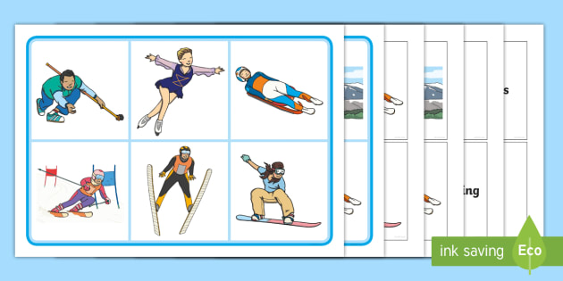 winter olympics matching cards and board game winter olympics rh twinkl com au Olympic Ski Jumper Clip Art Border Clip Art