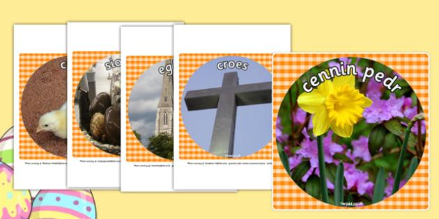 Cardiau fflach Pasg - welsh, cymraeg, Pasg, lluniau, Iesu Grist, Iesu, thema, easter, display, photo, cut out