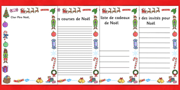 Christmas Role Play Writing Borders French - french, christmas, role play, writing, borders