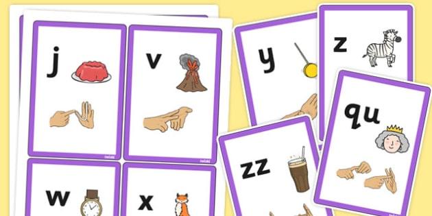 Phase 3 Sound Flash Cards with British Sign Language - phase 3