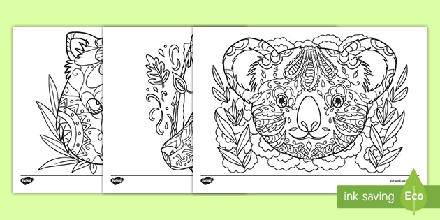 Australian Animals Coloring Pages | 315x630