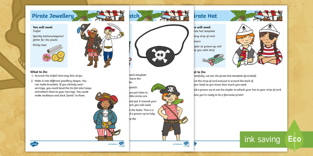 new pirate craft talk like a pirate day jewellery eye