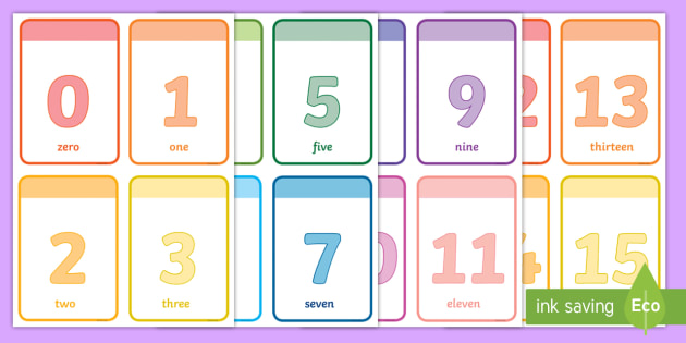 numbers 0 20 flashcards flashcards number maths numeracy count numbes. Black Bedroom Furniture Sets. Home Design Ideas