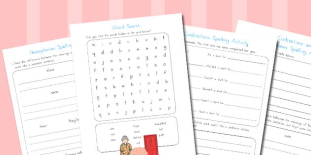 Year 2 Spelling Activities 2 - australia, spelling, year 2, spell