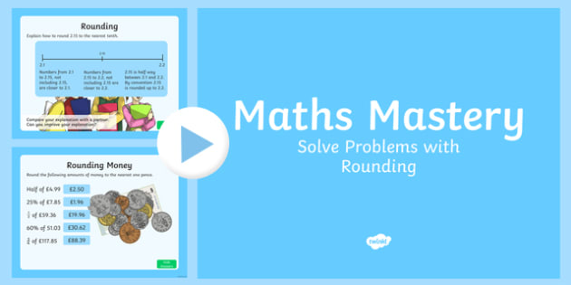 Year 6 Fractions Solve Problems with Rounding Maths Mastery Activities PowerPoint