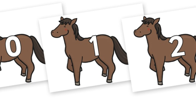 Numbers 0-31 on Chinese New Year Horse - 0-31, foundation stage numeracy, Number recognition, Number flashcards, counting, number frieze, Display numbers, number posters