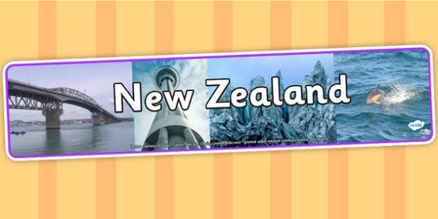 New Zealand Photo Display Banner - new zealand, photo display banner, display banner, display, banner, photo banner, header, display header, photo header