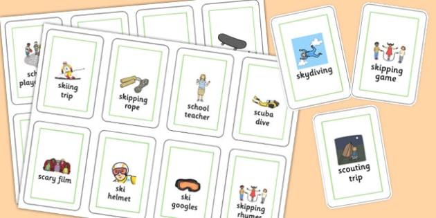 Three Syllable SC/SK Flash Cards - three syllable, sc/sk, flash cards