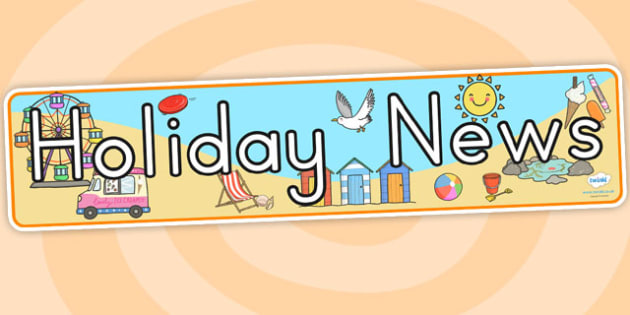 Holiday News Display Banner - holiday, vacation, banner, news