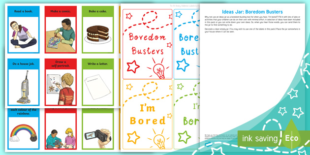 Ideas Jar Boredom Busters Teacher Made