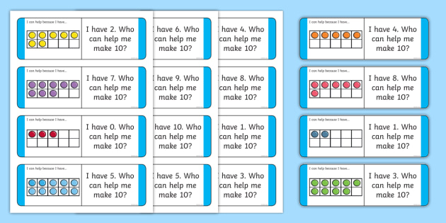 Partitioning Ten With Ten-Frames Loop Cards - CfE Addition with