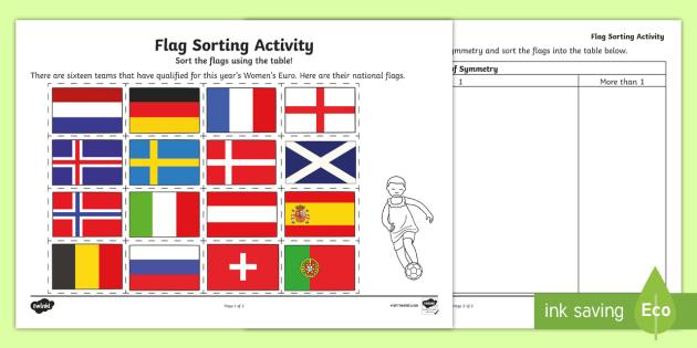 uefa women 39 s euro 2017 flag symmetry activity maths ks1. Black Bedroom Furniture Sets. Home Design Ideas