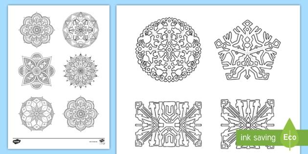Mandalas Und Muster Ausmalbilder Teacher Made