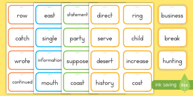 Fry Words The Eighth Hundred Flashcards