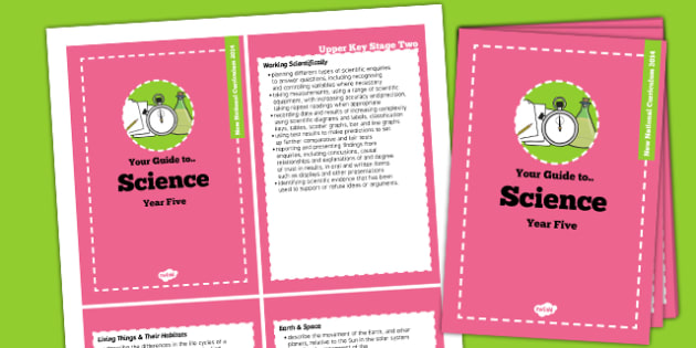 2014 Curriculum Cards Year 5 Science - new curriculum, planning