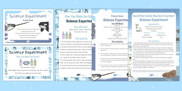EYFS Polar Regions Science Experiments Resource Pack - The Arctic, Polar Regions, north pole, south pole, explorers, freezing, frozen, ice, arctic animals,