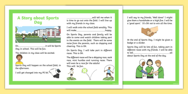 Sports Day Races and Field Events Social Situation