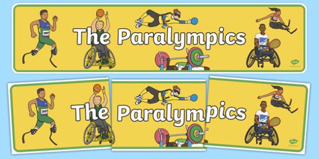 The Paralympics Display Banner - paralympics, rio 2016, rio olympics, 2016 olympics, display banner, display, banner