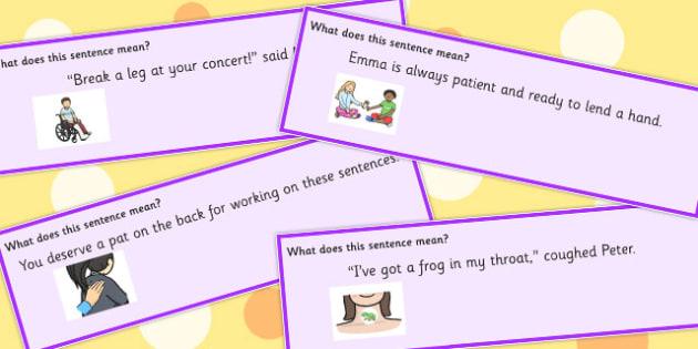 Body Idiom Sentences Set 2 - idioms, body sentences, meaning
