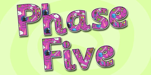 Phase Five Display Lettering-phase five, display lettering, themed display lettering, phase five display, lettering for display, phase 5