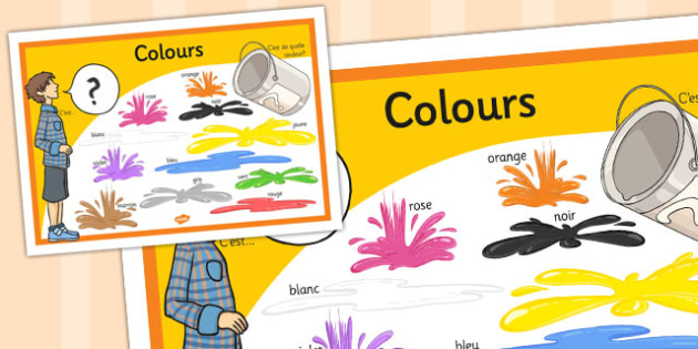 French Colours Display Poster - french, colours, display, poster