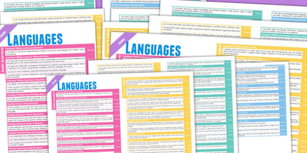 Scottish Curriculum Excellence Overview Posters Second Language