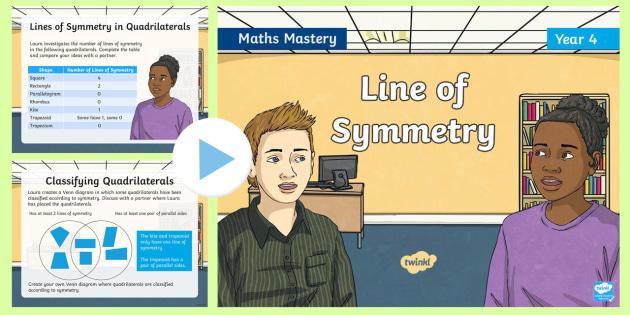 year 4 line of symmetry maths mastery powerpoint reasoning greater depth abstract