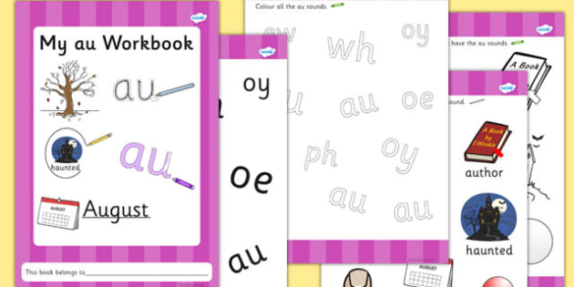 Phase 5 au Grapheme Workbook - phase five, graphemes, phases