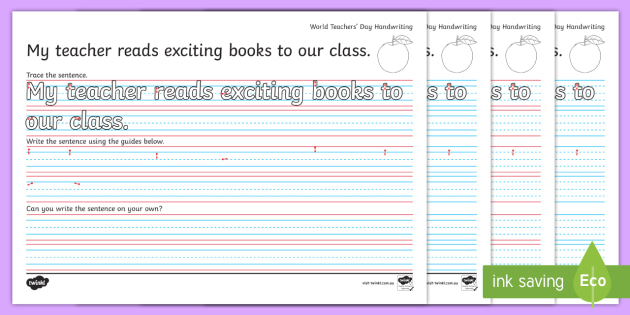 new world teachers 39 day year 2 handwriting practise worksheets dotted. Black Bedroom Furniture Sets. Home Design Ideas