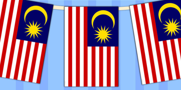Malaysia Flag Display Bunting - countries, geography, display