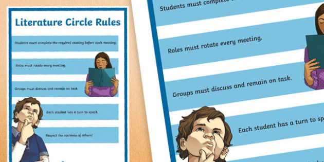 Literature Circle Rules A2 Display Poster