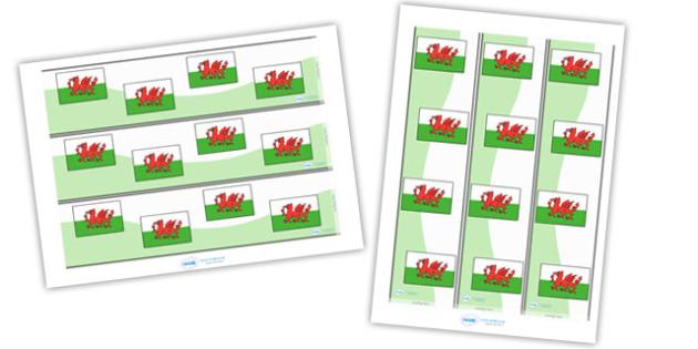 Borderi Baneri Cymru - Welsh, Wales, display border, classroom border, border,  foundation, languages, display, cymru