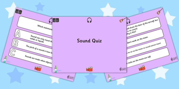 Sound Quiz PowerPoint - sound, powerpoint, quiz, powerpoint quiz