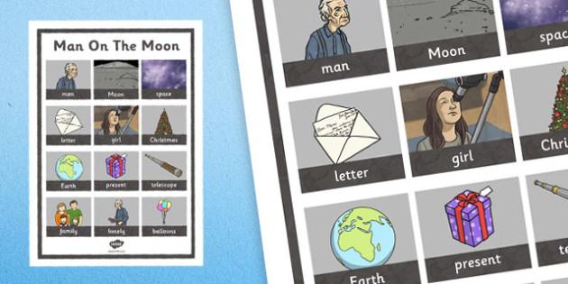 Man on the Moon Word Grid - man on the moon, word grid, word, grid, old man